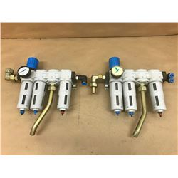 (2) FESTO FILTER VALVE ASSEMBLY *SEE PICS FOR PART #*