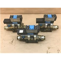 (3) COAX / FESTO MISC. VALVE ASSEMBLY *SEE PICS FOR PART #*