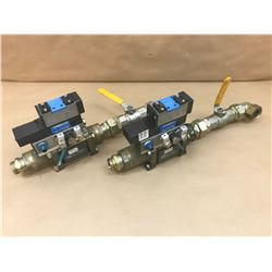 (2) COAX / FESTO MISC. VALVE ASSEMBLY *SEE PICS FOR PART #*