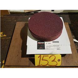 "Carbo PREMIER Red Resin Paper stick-on Disc 8"" Gr.40"