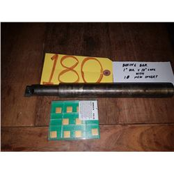 """Boring Bar 1"""" x 10"""" with Inserts (10)"""