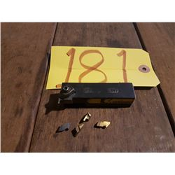Kennametal Grooving holder NER-122B with inserts