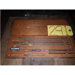"Starrett No. 124 Internal Micrometer in Wooden Case - 1"" to 12"""