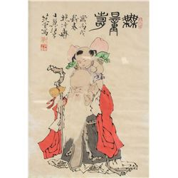 Fan Zeng b.1938 Chinese Watercolor Shouxing