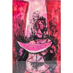 Rufino Tamayo Mexican Surrealist Acrylic on Board