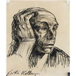 Kathe Kollwitz German Expressionist Charcoal/Paper