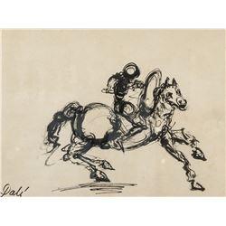 Salvador Dali Spanish Surrealist Ink on Paper