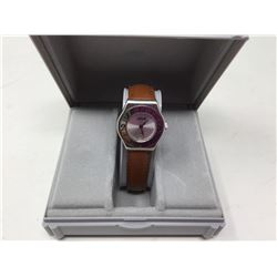 Azur Ladies Leather Band Wrist Watch