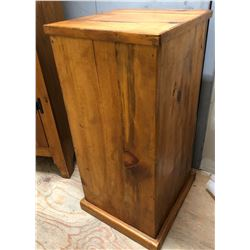"PINE POTATO BIN - 30"" H x 16"" SQUARE"