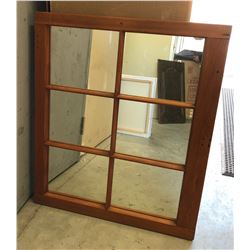 "PINE FRAMED MIRROR - 34"" x 29"""