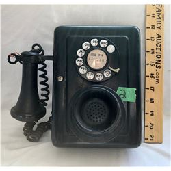 ANTIQUE WESTERN ELECTRIC - USA - WALL PHONE WITH WORKING PARTS