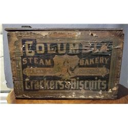 COLUMBIA STEAM BAKERY COVERED CRATE - CRACKERS & BISCUITS