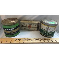 GR OF 3, VINTAGE TOBACCO TINS