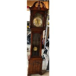 GRANDFATHER CLOCK WITH WEIGHTS - WORKING