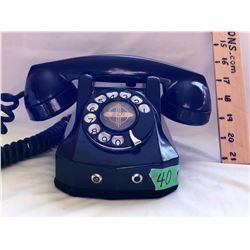 ROANWELL VINTAGE HOTEL STYLE PHONE - BLACK BAKELITE