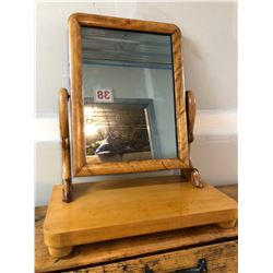 ANTIQUE PINE SHAVING MIRROR