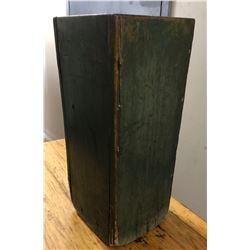 "DISTRESSED GREEN WOOD PLANTER - 24"" H"