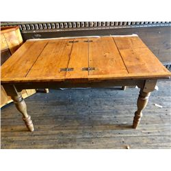 "ANTIQUE PINE HINGED TABLE - 54"" x 36"""
