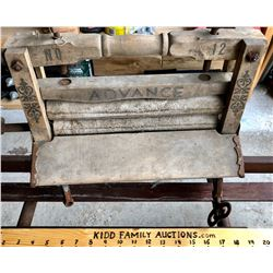 ANTIQUE PORTABLE WASHER WRINGERS - ADVANCE NO 12 MODEL