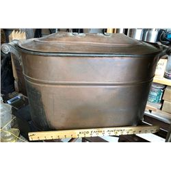 LARGE COPPER BOILER WITH LID