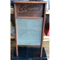 THE CANADIAN WOODENWARE CO., ECONOMY GLASS WASHBOARD