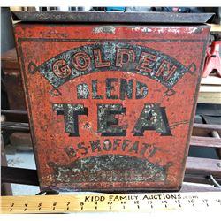 HS MOFFATT, GOLDEN BLEND TEA TIN - JASPER ONT
