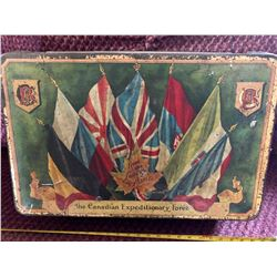 THE CANADIAN EXPEDITIONARY FORCE BISCUIT TIN - WWI