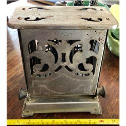 ANTIQUE METAL DROP SIDE TOASTER