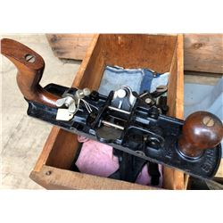 ANTIQUE STANLEY PLANE WITH ADDITIONAL BLADES