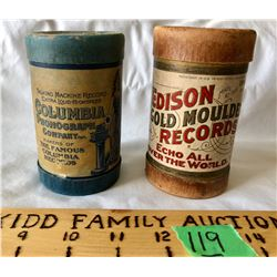 GR OF 2 PHONOGRAPH PLAYER ROLLS