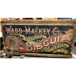 WARD MACKEY CO. BISCUIT CRATE WITH ORIGINAL DECAL - PITTSBURG
