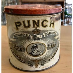 VINTAGE LILY SIZE PUNCH CIGAR TIN