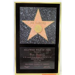Jim Nabors Hollywod Walk of Fame Star 1991 Induction Plaque