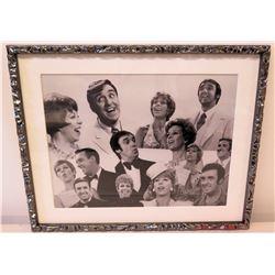 Framed Black & White Photo of Jim Nabors & Carol Burnett
