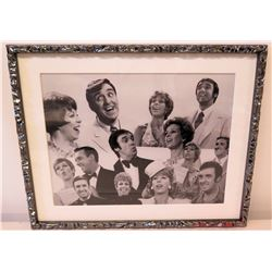 Framed Black & White Photo of Jim Nabors & Carol Burnett