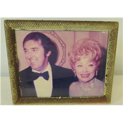 Framed Jim Nabors & Lucille Ball Photograph