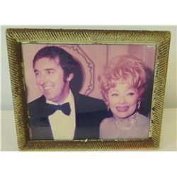 Framed Jim Nabors & Lucille Ball Photograph