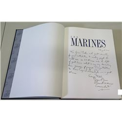 """The Marines"" Book Presented & Signed by Commander General w/ Note to Jim Nabors 2001"