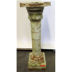 "Tall Marble Column Pedestal 42.5""H (top surface 13"" x 13)"