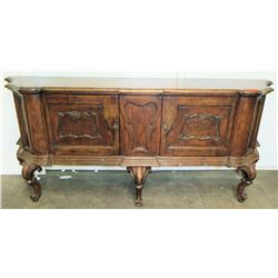 "Large Ornate Carved Sideboard 86""W x 19""D x 38.5""H"