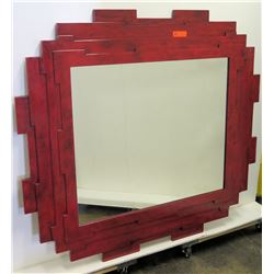 Geometric Lacquered Mirror