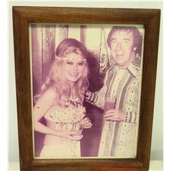 Framed Phototograph - Jim Nabors & Female Celebrity