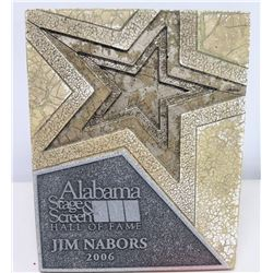 Framed 2006 Jim Nabors Alabama Stage & Screen Hall of Fame Induction Plaque