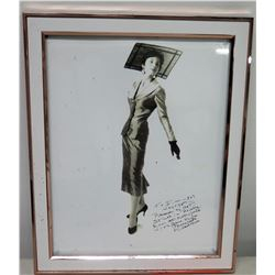 Framed Mildred Huie Autographed Black & White Photograph to Jim Nabors