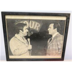 Framed Black & White Photo - Jim Nabors and Jon Nickam Jr.