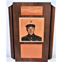 1964 'Outsanding Television Personality' Plaque Awarded to Gomer Pyle
