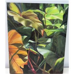 """Original Painting: """"Not Marine Green"""" Artist-Signed, Beth Eller 2012, Stretched Canvas, 20"""" x 16"""""""