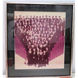 Framed Black & White Photograph Hollywood Celebrities (Names on Back of Frame)