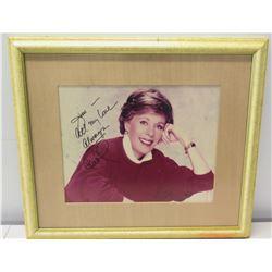 Framed Carol Burnett Autographed Photograph to Jim Nabors