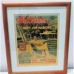 Framed MidWeek Magazine Cover: Meet Jim Nabors, 1987?